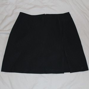 XOXO Striped Mini Skirt with Slit